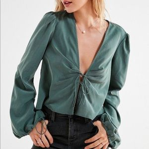Urban Outfitters Tie-Front Blouse